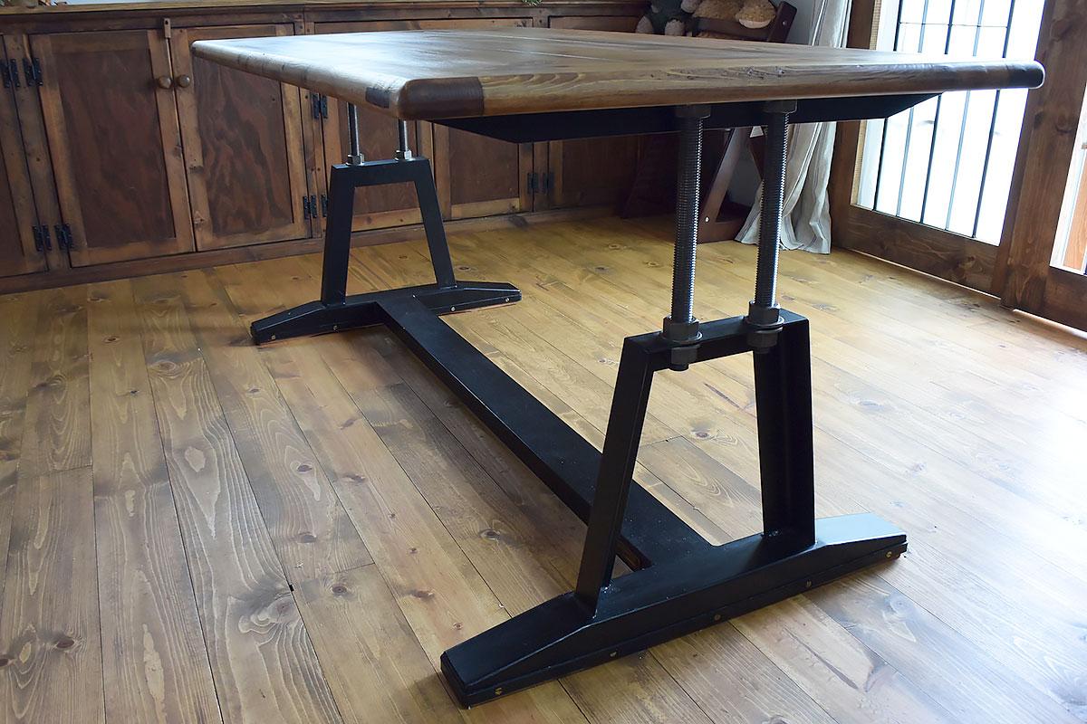 ラギッドスタイルダイニングテーブル1 01