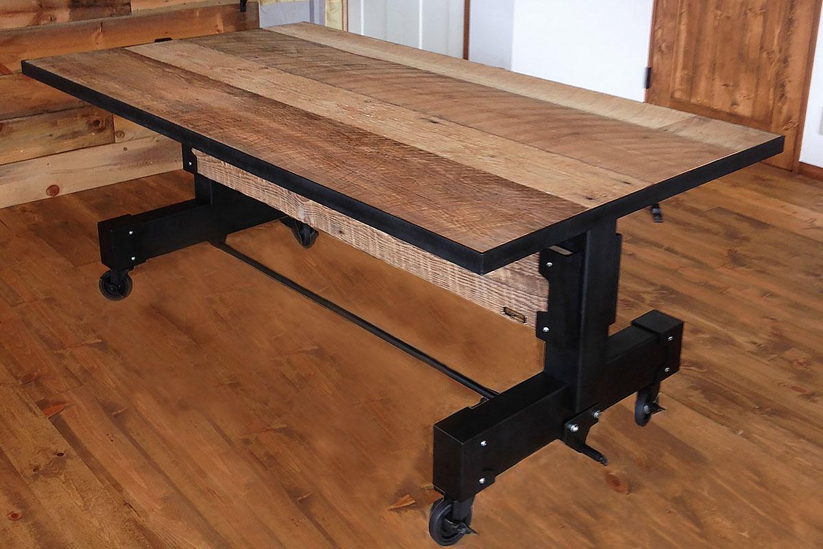 古材使用 ダイニングテーブル1 01